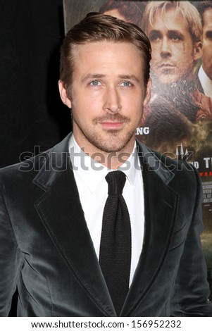 """NEW YORK - MARCH 28: Ryan Gosling attends the premiere of """"The Place Beyond The Pines"""" at the Landmark Sunshine Cinema on March 28, 2013 in New York City. - stock photo"""