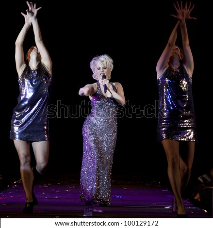 NEW YORK - MARCH 31: Sarah Atereth performs on stage at the 26th annual Night Of A Thousand Gowns at the Marriott Marquis Times Square on March 31, 2012 in New York City