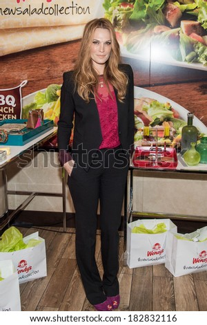 NEW YORK-MAY 29: Actress Molly Sims attends the Wendy's #NewSaladCollection fashion event on March 19, 2014 in New York City.