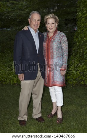 NEW YORK - MAY 30: Bette Midler and Michael Bloomberg attend the 12th Annual Bette Midler's New York Restoration Project Spring Picnic at Gracie Mansion on May 30, 2013 in New York City.