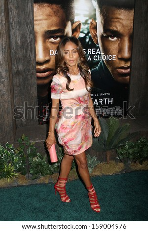 """NEW YORK - MAY 29: Jada Pinkett Smith attends the premiere of """"After Earth"""" at the Ziegfeld Theatre on May 29, 2013 in New York City.  - stock photo"""