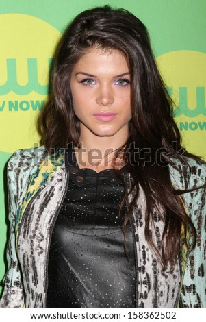 NEW YORK - MAY 16: Marie Avgeropoulos attends the 2013 CW Upfront Presentation at The London Hotel on May 16, 2013 in New York City.