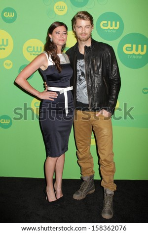NEW YORK - MAY 16: Peyton List and Luke Mitchell attend the 2013 CW Upfront Presentation at The London Hotel on May 16, 2013 in New York City.