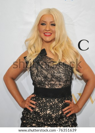 NEW YORK - MAY 01: Singer Christina Aguilera attends the 2nd Annual Mary J. Blige Honors Concert on May 1, 2011 -  Hammerstein Ballroom New York, NY