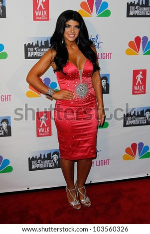"NEW YORK-MAY 20: TV personality Teresa Giudice attends the ""Celebrity Apprentice"" Live Finale at the American Museum of Natural History on May 20, 2012 in New York City."