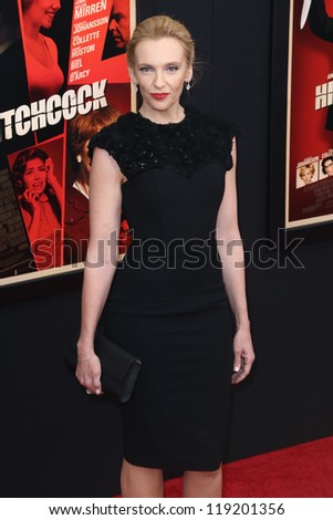 "NEW YORK-NOV 18: Actress Toni Collette attends the premiere of ""Hitchcock"" at the Ziegfeld Theatre on November 18, 2012 in New York City."