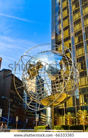 NEW YORK - NOV 27: Columbus circle pictured on November 27,2010,in New York. It is the center of the city since it was completed in 1905. It is hosting the world headquarters of Time Warner. - stock photo