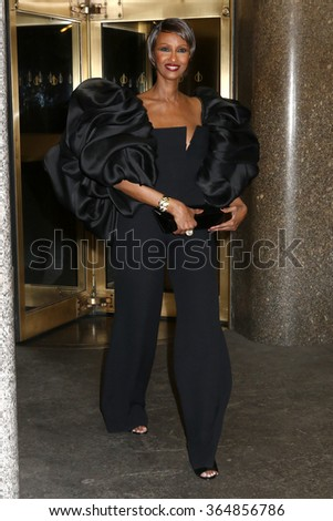 NEW YORK - NOV 9, 2015: Iman attends the 2015 Glamour Women of the Year after party on November 9, 2015, in New York.