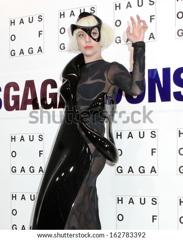 NEW YORK - NOV 10: Lady Gaga attends the record release party event for new album 'ARTPOP' at the Brooklyn Navy Yard on November 10, 2013 in New York. - stock photo