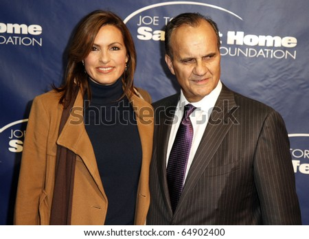 NEW YORK - NOV 11: Mariska Hargitay and Joe Torre attend the 8th Annual Joe Torre Safe at Home Foundation Gala at Pier Sixty at Chelsea Piers on November 11, 2010 in New York City. - stock photo