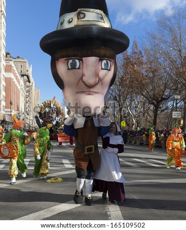 NEW YORK - NOVEMBER 28: Atmosphere at the 87th Annual Macy's Thanksgiving Day Parade on November 28, 2013 in New York City.