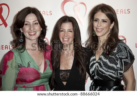 NEW YORK - NOVEMBER 09: Victoria Leacock Hoffman, Stefani Greenfield, Dini von Mueffling attend Love Heals The Alison Gertz Foundation For AIDS Education 20th Anniversary gala on Nov 9, 2011 in New York City, NY. - stock photo