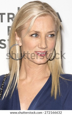 NEW YORK, NY - APRIL 22: Actress Joely Richardson attends the premiere of 'Maggie' during the 2015 Tribeca Film Festival at BMCC Tribeca PAC - stock photo