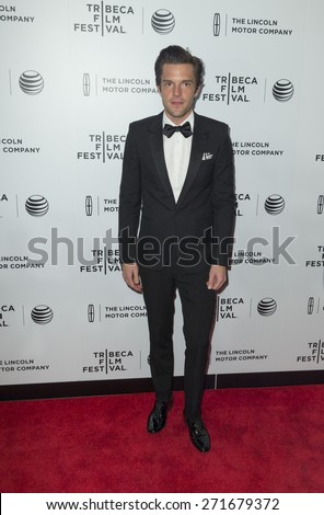 New York, NY - April 21, 2015: Brandon Flowers attends Tribeca Film Festival screening of On The Town movie at Spring Studios - stock photo