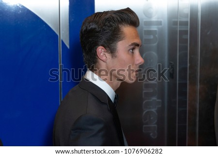 New York, NY - April 24, 2018: David Hogg attends 2018 Time 100 Gala at Jazz at Lincoln Center