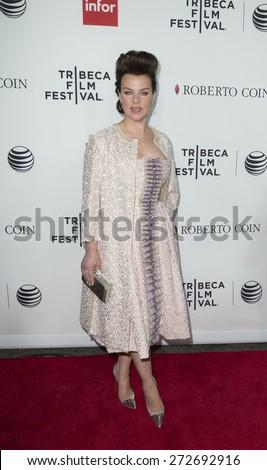 New York, NY - April 25, 2015: Debi Mazar wearing Isabel Toledo dress attends 25th anniversary screening Goodfellas movie during Tribeca Film Festival closing night at Beacon theater - stock photo