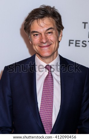 NEW YORK, NY - APRIL 18: Dr. Mehmet Oz attends 'Equals' Premiere - 2016 Tribeca Film Festival at John Zuccotti Theater at BMCC Tribeca Performing Arts Center on April 18, 2016 in New York City. - stock photo