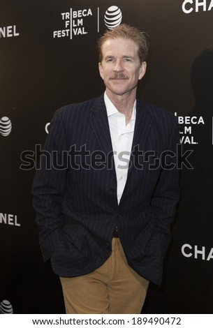 NEW YORK, NY - APRIL 26, 2014: Matthew Modine attends the closing night gala premiere of 'Begin Again' during the 2014 Tribeca Film Festival at BMCC Tribeca PAC - stock photo
