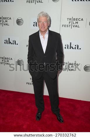 New York, NY - April 17, 2015: Richard Gere attends Tribeca Film Festival premiere of Franny film at BMCC Tribeca Performing Arts Center - stock photo