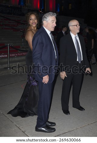 New York, NY - April 14, 2015: Robert De Niro and Grace Hightower attend the 2015 Tribeca Film Festival Vanity Fair Party at State Supreme Courthouse