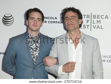 New York, NY - April 17, 2015: Vincent Piazza and Vincenzo Amato attend Tribeca Film Festival premiere of Wannabe film at BMCC Tribeca Performing Arts Center - stock photo