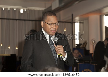 NEW YORK, NY - APRIL 26, 2014: Wynston Marsalis attends 23rd annual Jazz loft party for Jazz Foundation of America at Hudson Studios