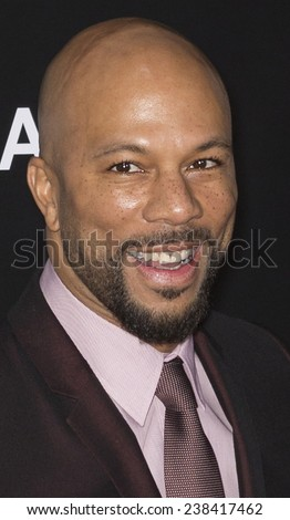 NEW YORK, NY - DECEMBER 14, 2014: Actor Common attends the 'Selma' New York Premiere at the Ziegfeld Theater