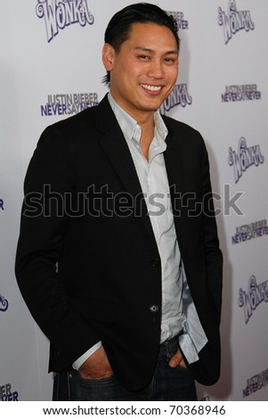 "NEW YORK, NY - FEBRUARY 02: Director Jon Chu attends the ""Justin Bieber: Never Say Never"" New York movie premiere at the Regal E-Walk 13 Theater on February 2, 2011 in New York City. - stock photo"