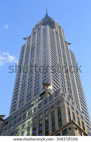 NEW YORK, NY-JAN 3: Chrysler Building, View from ground,  January 3, 2013