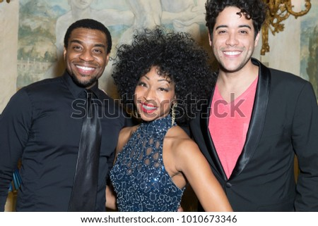 New York, NY - January 24, 2018: Antoine Smith, N'Kenge, Dan Domenech attend Broadway at the Pierre as part of Broadway musical performances at The Pierre hotel
