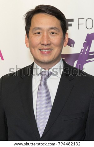 New York, NY - January 14, 2018: James Rhee Chairman and CEO Ashley Stewart attends 2018 National retail federation foundation gala at Pier 60