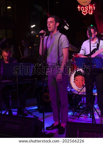 NEW YORK, NY - JUNE 30, 2014: Brian Craft performs at Broadway Sings For Pride benefit concert at Toshi's Living Room at The Flatiron Hotel
