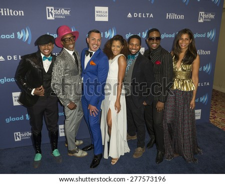 New York, NY - May 9, 2015: B.O.R.N. to Style cast attends 26th Annual GLAAD Media Awards at Waldorf Astoria