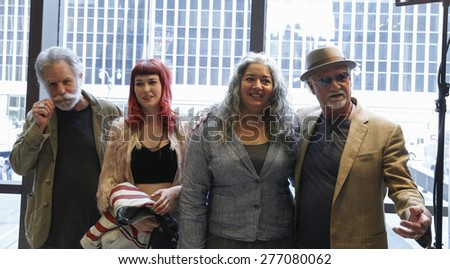 New York, NY - May 11, 2015: Bill Kreutzmann, Reya Hart, Trixie Garcia, Bob Weir attend the Madison Square Garden 2015 Walk of Fame Inductions Ceremony at Madison Square Garden