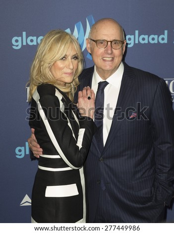 New York, NY - May 9, 2015: Judith Light and Jeffrey Tambor attend 26th Annual GLAAD Media Awards at Waldorf Astoria