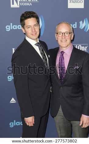 New York, NY - May 9, 2015: Kelvin Burwell and Peter Danyluk attend 26th Annual GLAAD Media Awards at Waldorf Astoria