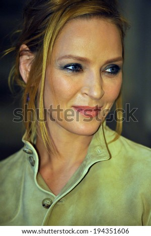 NEW YORK, NY - MAY 19: Uma Thurman attends the Ralph Lauren Fall 14 Children's Fashion Show in Support of Literacy at New York Public Library on May 19, 2014 in New York City.