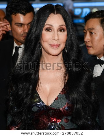 New York, NY  Monday May 04, 2015: Cher attends 'China: Through The Looking Glass' Costume Institute Gala, held at the Metropolitan Museum of Art in New York City, New York. - stock photo