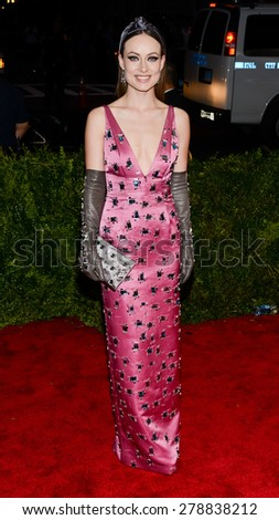 New York, NY  Monday May 04, 2015: Olivia Wilde attends 'China: Through The Looking Glass' Costume Institute Gala, held at the Metropolitan Museum of Art in New York City, New York. - stock photo