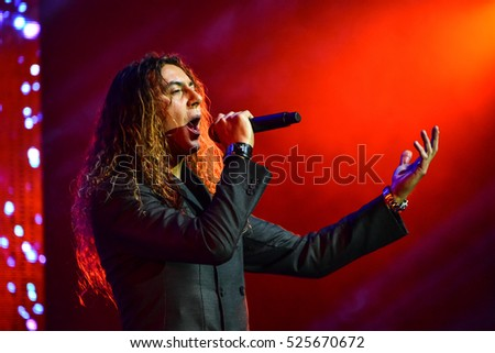 NEW YORK, NY - NOVEMBER 27: Italian singer Danielle Lamberto performing on stage during the Big Apple Music Awards 2016 Concert at Master Theater on November 27, 2016 in Brooklyn NY.
