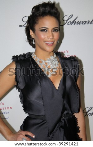 NEW YORK, NY - OCTOBER 20: Paula Patton attends the 2009 Angel Ball on October 20, 2009 in New York City. - stock photo