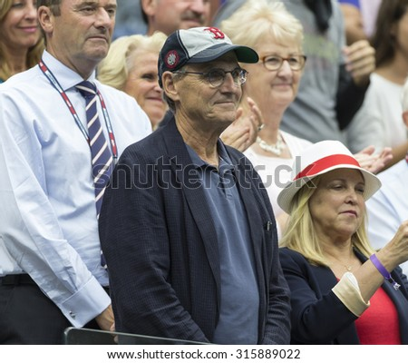 New York, NY - September 12, 2015: James Taylor attends final match between Flavia Pennetta of Italy & Roberta Vinci of Italy at US Open Championship