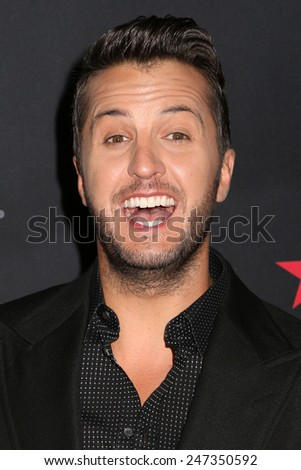 NEW YORK, NY - SEPTEMBER 9, 2014: Luke Bryan attends Fashion Rocks at the Barclays Center on September 9, 2014 in New York.