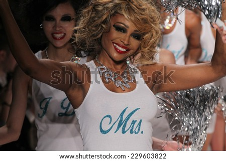 NEW YORK, NY - SEPTEMBER 10: Models walk the runway at Betsey Johnson during Mercedes-Benz Fashion Week Spring 2015 at The Salon at Lincoln Center on September 10, 2014 in N - stock photo