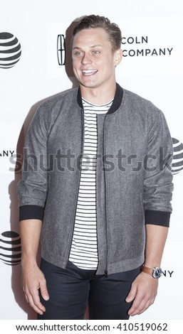 New York, NY, USA - April 19, 2016: Actor Billy Magnusson attends 'The Meddler' premiere during the 2016 Tribeca Film Festival at the John Zuccotti Theater at BMCC Tribeca Performing Arts Center, NYC - stock photo