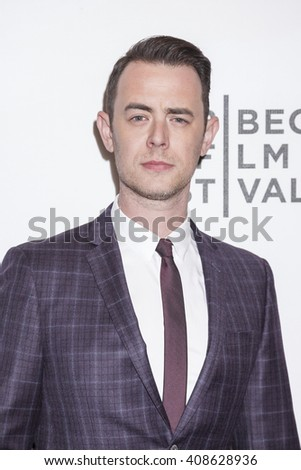 New York, NY, USA - April 18, 2016: Actor Colin Hanks attends the 'Elvis & Nixon' premiere during the 2016 Tribeca Film Festivalat at the John Zuccotti Theater at BMCC Tribeca Performing Arts Center - stock photo