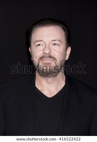 New York, NY, USA - April 22, 2016: Actor Ricky Gervais attends the 'Special Correspondets' premiere during the 2016 Tribeca Film Festival at the John Zuccotti Theater at BMCC Tribeca PAC, NYC