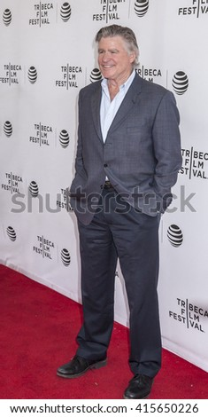 New York, NY, USA - April 22, 2016: Actor Treat Williams attends Tribeca Talks After The Movie: By Sidney Lumet during the 2016 Tribeca Film Festival at SVA Theatre, Manhattan - stock photo