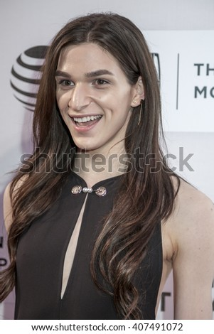 New York, NY, USA - April 15, 2016: Actress Eve Lindley attends the 'All We Had' premiere during the 2016 Tribeca Film Festival at the John Zuccotti Theater at BMCC Tribeca Performing Arts Center - stock photo