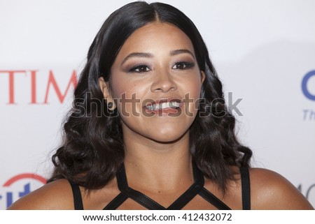 New York, NY USA - April 26, 2016: Gina Rodriguez attends Time 100 gala at Jazz at Lincoln Center - stock photo